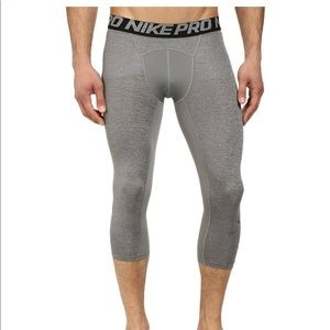 Nike Pro 3/4 Compression Tights Training Large